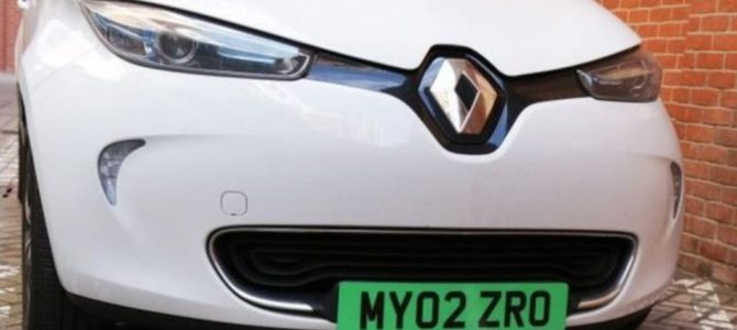 Green number plates planned for electric vehicles
