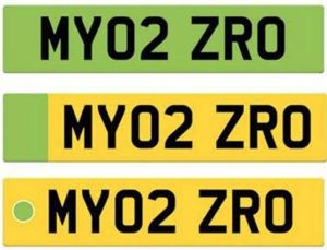 Green number plate selection