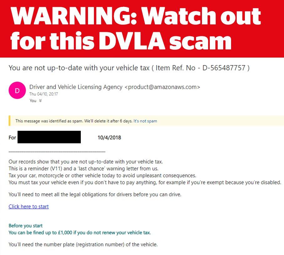 DVLA Scam